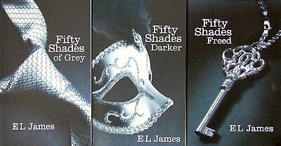 50 Fifty Shades of Grey Books Darker & Freed Trilogy 3 Collection Set E L JAMES