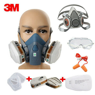 3M 7502 6200 Premium Half Face Spray Paint Dust Mask Reusable Respirator Filters