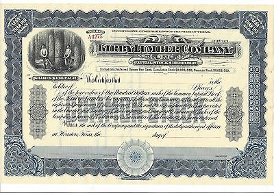 Kirby Lumber Company (Houston,texas).....unissued Stock Certificate