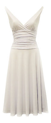New Ladies  Glamour  1950s style White Slinky Party Salsa Holiday Dress UK 10