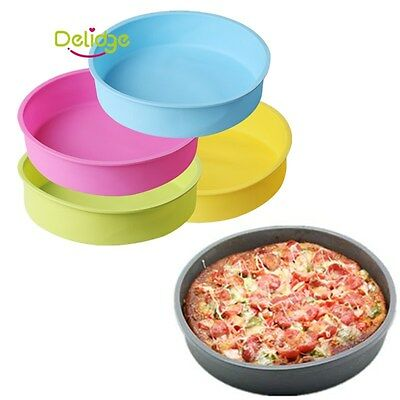 Silicone Cake Mold Pizza Bakeware Big Round Bread Baking Pan Mould