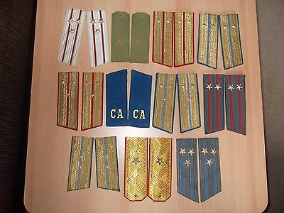 Soviet Military Epaulettes/Shoulder Boards Collection x 11