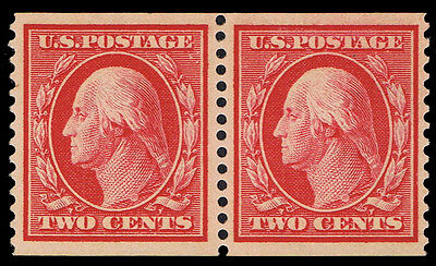 Reference Scott #388 Mint Og Nh Pair Cert Read Yellow Listing - If Genuine $7500