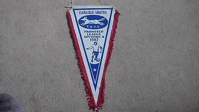 Carlisle United Pennant - Promotion To Division 2 1982