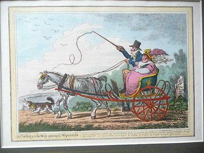 James Gillray Georgian Caricature A Cockney And His Wife Going To Wycombe