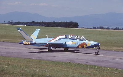 FRENCH AIR FORCE.,   FOUGA MAGISTER.,    x4  Kodak colour slides