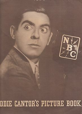 Big Eddie Cantor Nbc Picture Book Foldout, 1933
