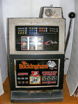 """the Buckingham Penny Slot"" One Arm Bandit Arcade Machine Working Sold As Parts"