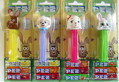 PEZ - HAPPY EASTER set of 4  - Mint on Card (MOC) 2017 !!!