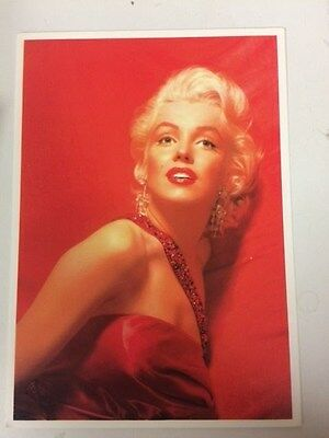 MARILYN MONROE POSTCARD 1953 How to Marry A Millionaie publicity in red CVB