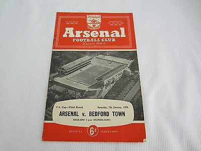 1955-56 FA CUP 3RD ROUND ARSENAL v BEDFORD TOWN