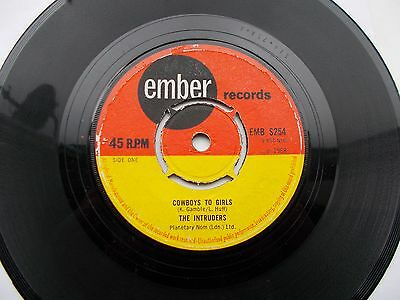 The Intruders Cowboys To Girls Uk 45 Ember Northern Soul