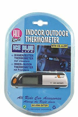 All Ride Indoor/Outdoor Car Thermometer Black/Grey