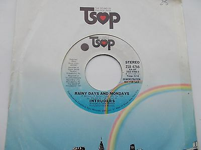 The Intruders Rainy Days And Mondays *demo* Us 45 Tsop Northern Soul