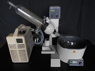 USED Buchi R-114 Rotary Evaporator WITH Refrigerated Circulator !