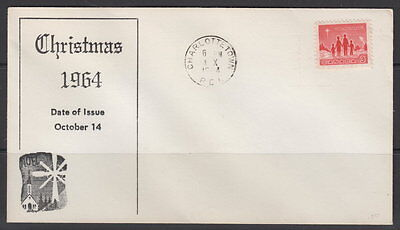 Canada #434 3¢ Christmas 1964 On Unusual Cachet First Day Cover