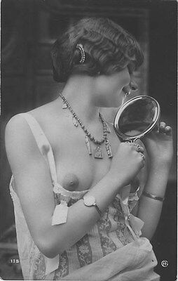 French NUDE real photo postcard circa 1920 Jean AGELOU 115