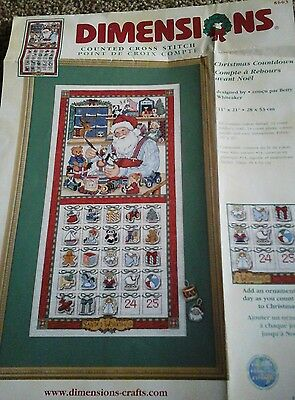 cross stitch chart       Dimensions  Christmas  count down