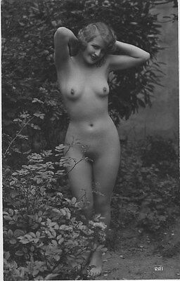 French NUDE real photo postcard circa 1920 BIEDERER 221 Flesh coloured