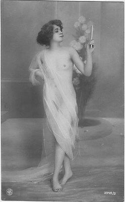 French NUDE real photo postcard circa 1920 3948/2