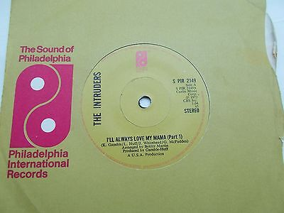 The Intruders I'll Always Love My Mama  Pts 1&2 Uk 45 Pir Northern Soul