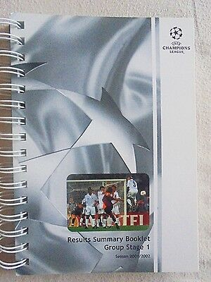 2001/2002 Champions League Results Summary Booklet - Group Stage 1