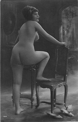 French NUDE real photo postcard circa 1920 Jean AGELOU 102