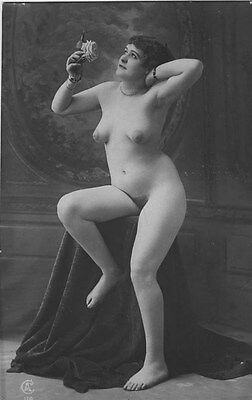 French NUDE real photo postcard circa 1920 Jean AGELOU 116