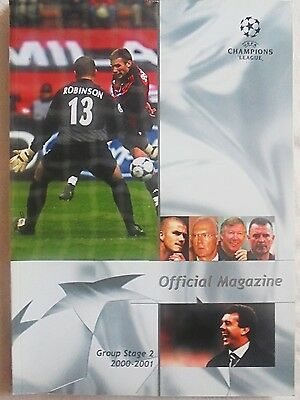 2000/2001 Champions League Group Stage 2 Official Magazine