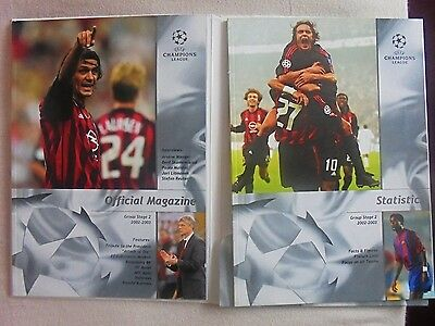 2002/2003 Champions League Group Stage 2 Official Magazine & Statistics Magazine