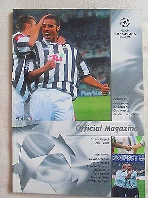 2001/2002 Champions League Group Stage 2 Official Magazine