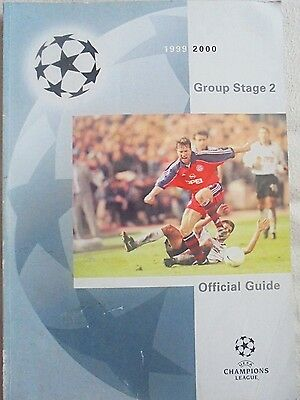 1999/2000 CHAMPIONS LEAGUE GROUP STAGE 2 OFFICIAL GUIDE/MAGAZINE No 2