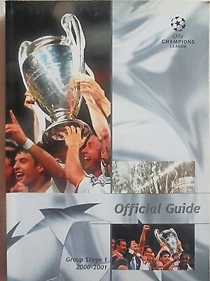 2000/2001 Champions League Group Stage 1 Official Guide