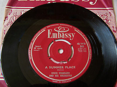 Steve Standard - A Summer Place / What In The World Come ** Embassy Label  ** Ex