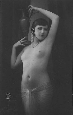 French NUDE real photo postcard circa 1920 AN206