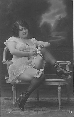 French NUDE real photo postcard circa 1920 Jean AGELOU 114