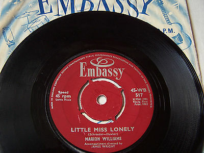 Marion Williams - Little Miss Lonely / Vacation ** Embassy Label  **