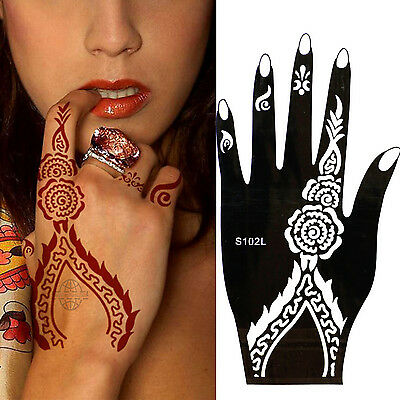 Henna Tattoo Schablone Vorlage Airbrush Tattoo Body Paint Rechte Hand S 102 L