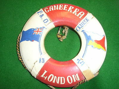 1974. P & O, SS Canberra Cruise Liner. Souvenir Life Ring Bouy. London