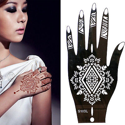 Henna Tattoo Schablone Vorlage Airbrush Tattoo Body Paint Linke Hand S 103 L