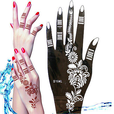 Henna Tattoo Schablone Vorlage Airbrush Tattoo Body Paint Linke Hand S 104 L