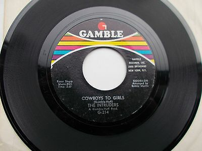 The Intruders Cowboys To Girls Us 45 Gamble G214 Northern Soul