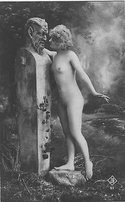 French NUDE real photo postcard circa 1920 BIEDERER JB51