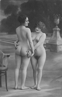 French NUDE real photo postcard circa 1920 CP237