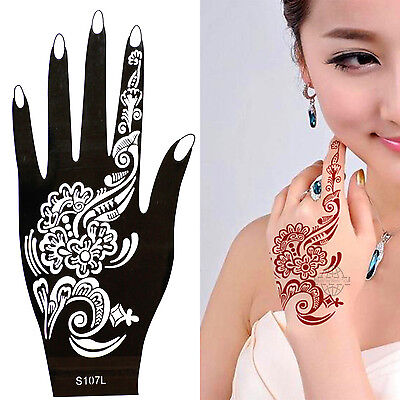 Henna Tattoo Schablone Vorlage Airbrush Tattoo Body Paint Linke Hand S 107 L