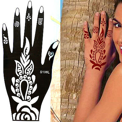 Henna Tattoo Schablone Vorlage Airbrush Tattoo Body Paint Linke Hand S 108 L
