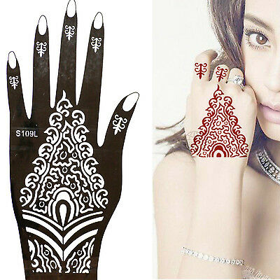 Henna Tattoo Schablone Vorlage Airbrush Tattoo Body Paint Linke Hand S 109 L