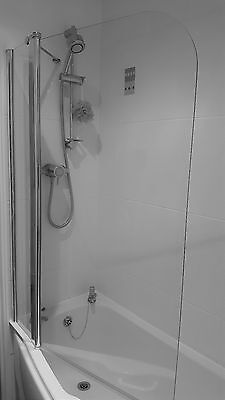 1000mm Bath Shower Screen Safety Glass Easy Clean 6mm Toughened.