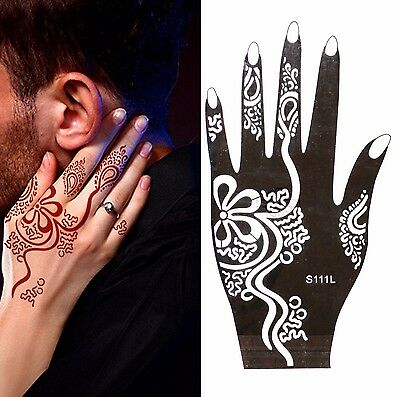 Henna Tattoo Schablone Vorlage Airbrush Tattoo Body Paint Linke Hand S 111 L
