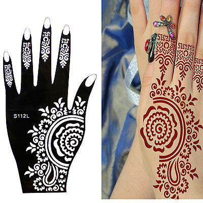 Henna Tattoo Schablone Vorlage Airbrush Tattoo Body Paint Linke Hand S 112L